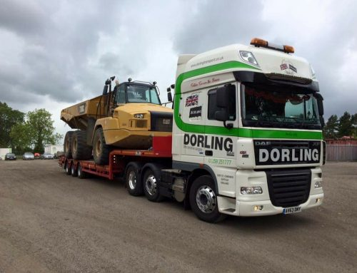 25t Dump truck on Low Loader